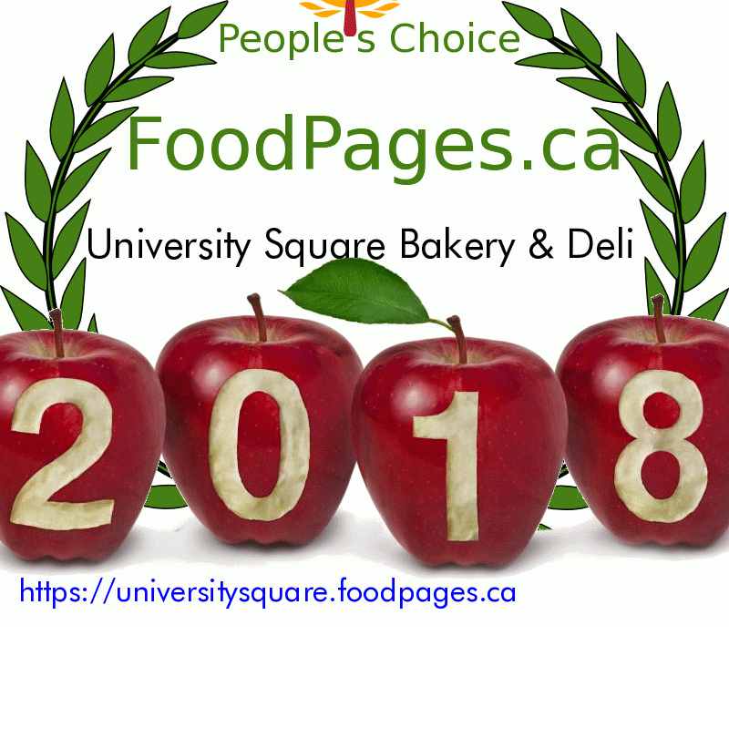 University Square Bakery & Deli FoodPages.ca 2018 Award Winner
